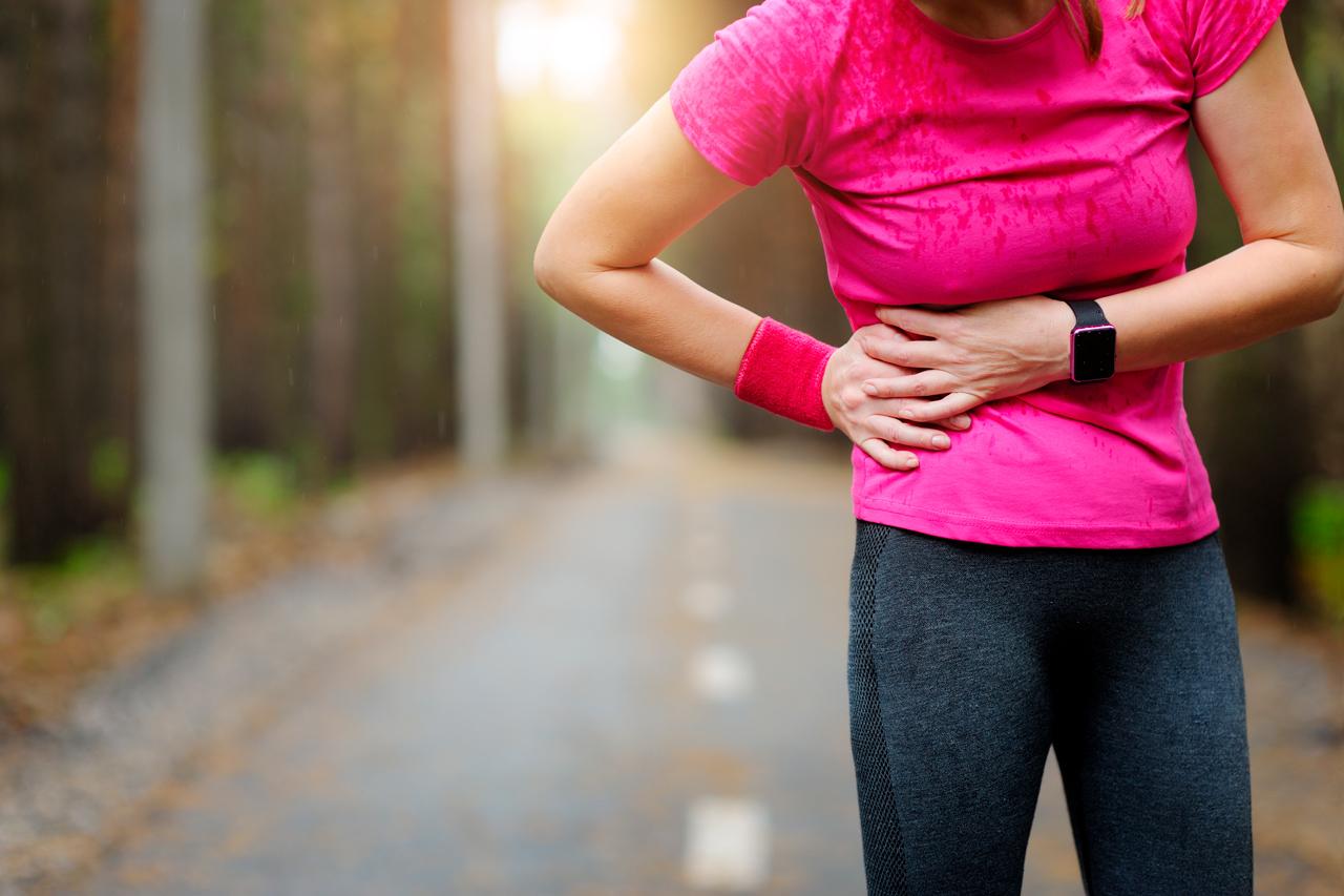 Diafragma el correr de dolor en despues